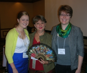 Kelsey Paul Walters, Mary Lynn Redmond and Rachel Will at the 2012 FLANC conference in Winston Salem.
