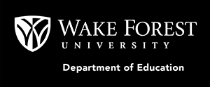 WFU Department of Education logo