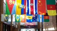 Lobby at Parkland Magnet High School