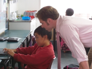 Ethan Groce at Pt. England Primary School in Auckland, NZ
