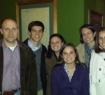WFU English Department faculty, current students and alumni at NCTE conference supper.