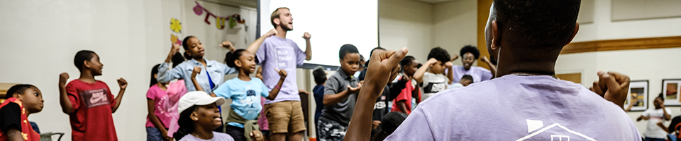 Students participating in a lively session during Freedom School 2019